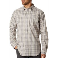 Columbia Mens Vapor Ridge Plaid Printed Long Sleeve Shirt