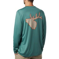Columbia Mens PHG Terminal Shot Elk Long Sleeve T-Shirt
