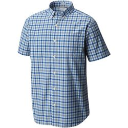 Columbia Mens Rapid Rivers II Gingham Plaid Shirt
