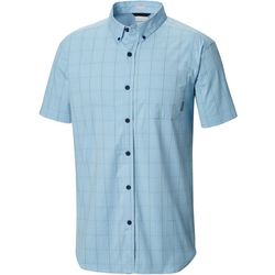 Columbia Mens Windowpane Plaid Rapid Rivers II Shirt