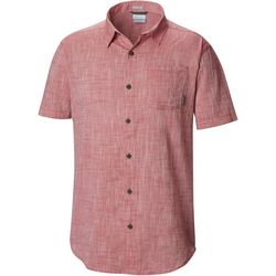 Columbia Mens Under Exposure Yarn-Dye Short Sleeve Shirt