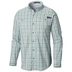 Columbia Mens PFG Super Tamiami Plaid Print Shirt