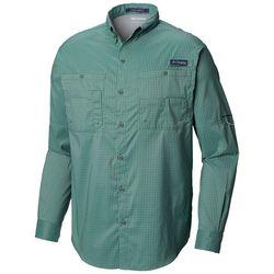 f355d8edfd1 Columbia Mens PFG Super Tamiami Windowpane Plaid Shirt