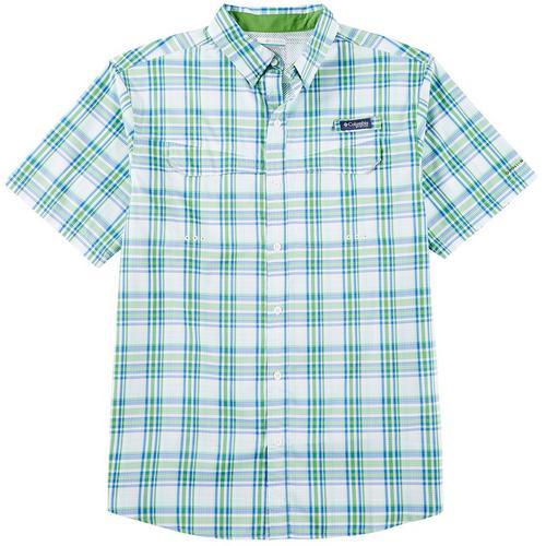 ceae6d5cda5 Columbia Mens Super Low Drag Plaid Print Short Sleeve Shirt | Bealls Florida