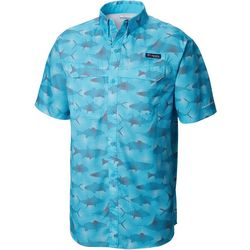 Columbia Mens Super Low Drag Fish Print Short Sleeve Shirt