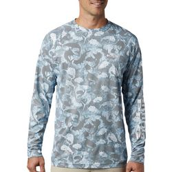 Columbia Mens PFG Terminal Deflector Fish Print T-Shirt