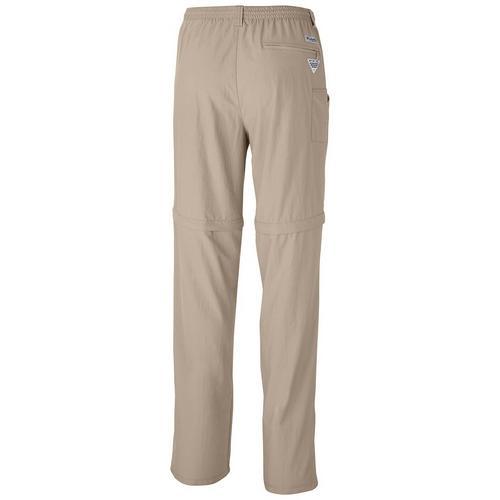 """Columbia PFG Mens XL Ins 32/"""" Dark Blue Backcast Convertible Pants Water Shorts"""