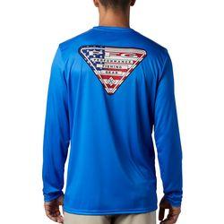 Columbia Mens Terminal Tackle PFG American Flag T-Shirt