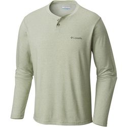 Columbia Mens Thistletown Park Henley Long Sleeve Shirt