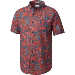 Columbia Mens Under Exposure II Printed Button Up Shirt