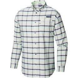 Columbia Mens Super Harborside Plaid Long Sleeve Shirt