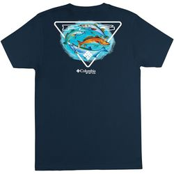 Columbia Mens PFG Triangle Fish Short Sleeve T-Shirt