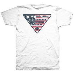 Columbia Mens American Flag Triangle PFG T-Shirt