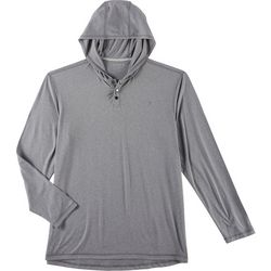 Reel Legends Mens Hilo Henley Heathered Hoodie
