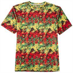 Reel Legends Mens Reel-Tec Rasta Splatter T-Shirt