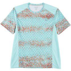 Reel Legends Mens Freeline Greyscale Pieced T-Shirt