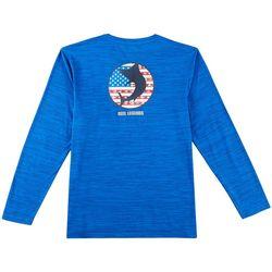 Reel Legends Mens Freeline USA Fish Long Sleeve Shirt