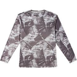 Reel Legends Mens Reel-Tec Abstract Long Sleeve T-Shirt
