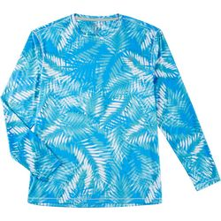 Reel Legends Mens Reel-Tec Trio Palm Long Sleeve T-Shirt