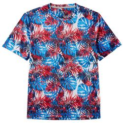 Reel Legends Mens Reel-Tec Americana Palms T-Shirt