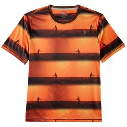 Reel Legends Mens Reel-Tec Pier Stripe T-Shirt