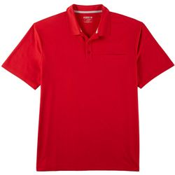 Reel Legends Mens Freeline Solid Pocket Polo Shirt