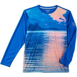Reel Legends Mens Freeline Sorbet Sky Long Sleeve Shirt