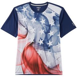 Reel Legends Mens Freeline Smoke Flag Short Sleeve T-Shirt