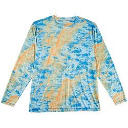 Reel Legends Mens Reel-Tec Marble Water Thumbhole T-Shirt