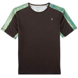 Reel Legends Mens Reel-Tec Abstract Grain Pieced T-Shirt