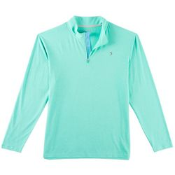 Reel Legends Mens Reel Fresh Solid Quarter Zip Pullover