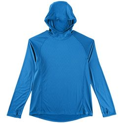 Reel Legends Mens Freeline Scale Hooded Long Sleeve T-Shirt