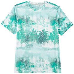 Reel Legends Mens Keep It Cool Beach Stripe Crew T-Shirt