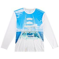 Reel Legends Mens Reel-Tec Weekend Vibes Long Sleeve T-Shirt