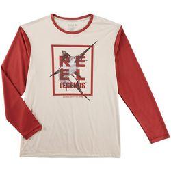 Reel Legends Mens Reel-Tec Marlin Pieced Crew T-Shirt