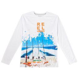 Reel Legends Mens Reel-Tec Reels & Rods Long Sleeve T-Shirt