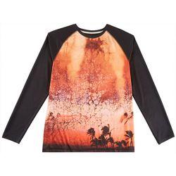 Reel Legends Mens Reel-Tec Golden Hour Long Sleeve T-Shirt