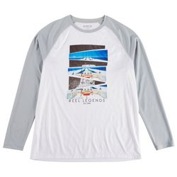 Reel Legends Mens Reel-Tec Boat Views Long Sleeve T-Shirt