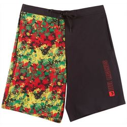 Reel Legends Mens Rasta Splatter Boardshorts