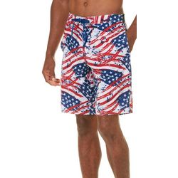 Reel Legends Mens Painted Flags Boardshorts