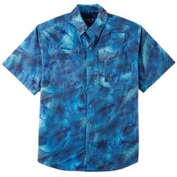 Reel Legends Mens Saltwater Crazy Fish Short Sleeve Shirt