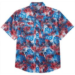 Reel Legends Mens Saltwater II Ameripalms Short Sleeve Shirt