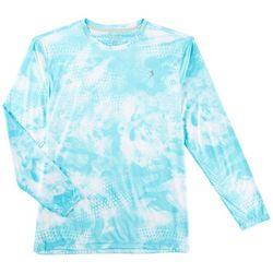 Reel Legends Mens Keep It Cool Camo Scales Crew T-Shirt