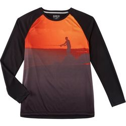 Reel Legends Mens Freeline Pier Long Sleeve Shirt