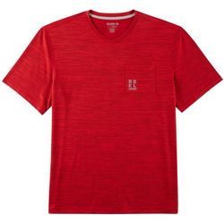 Reel Legends Mens Freeline Stripe Print V-Neck T-Shirt