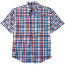 Reel Legends Mens Mariner Plaid Short Sleeve Shirt