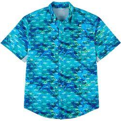 Reel Legends Mens Mariner II Choppy Water Short Sleeve Shirt
