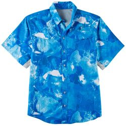 Reel Legends Mens Mariner Plaster Water Short Sleeve Shirt