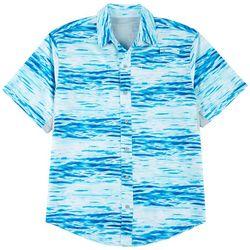 Reel Legends Mens Mariner II Waterlines Short Sleeve Shirt