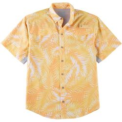 Reel Legends Mens Mariner II Trio Palm Short Sleeve Shirt